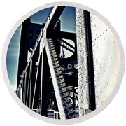 Tower Bridge - Throwback Round Beach Towel