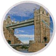 Tower Bridge Round Beach Towel