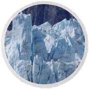 Tower In Margerie Glacier Round Beach Towel