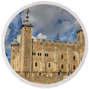 Tower Of London Round Beach Towel