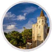 Tower Of St. Sebastian II Round Beach Towel