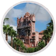Tower Of Terror  Round Beach Towel