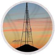 Tower Sunrise Round Beach Towel