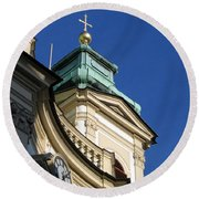 Tower Vienna Austria Round Beach Towel
