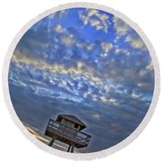 Tower View Round Beach Towel