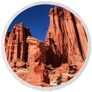 Towering Above The Hoodoo Round Beach Towel