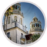 Towers At Hearst Castle - California Round Beach Towel