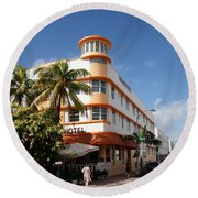 Towers Hotel - Miami Round Beach Towel