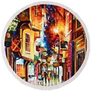 Town In England Round Beach Towel
