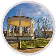 Town Of Bjelovar Central Park Round Beach Towel
