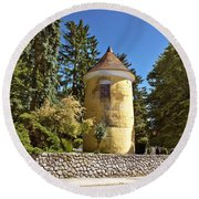 Town Of Vrbovec Historic Park Tower Round Beach Towel