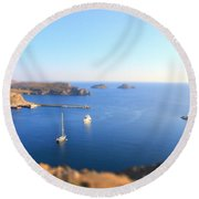 Toy Boats Round Beach Towel