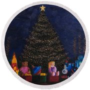 Christmas Toys Round Beach Towel