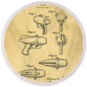 Toy Ray Gun Patent Round Beach Towel