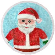Toy Santa Round Beach Towel