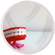 Toy Teeth Round Beach Towel