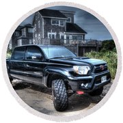 Toyota Tacoma Trd Truck Round Beach Towel