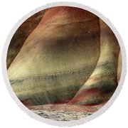 Traces Of Life Round Beach Towel