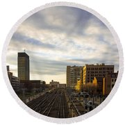 Tracks Philadelphia Round Beach Towel