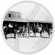 Trading Post, 1882 Round Beach Towel