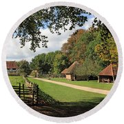 Traditional Countryside Britain Round Beach Towel