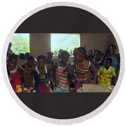 Traditional Dance And Singing Round Beach Towel
