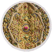 Traditional Embroidery In Jerusalem Israel Round Beach Towel