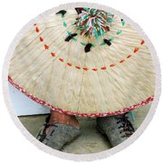 Traditional Woven Round Beach Towel