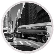 Traffic - New York In Perspective Series Round Beach Towel