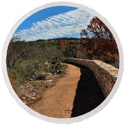 Trail At Reimer's Ranch Round Beach Towel