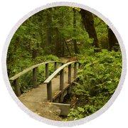 Trail Bridge Toketee 1 Round Beach Towel