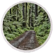 Trail To Jaw Bone Flats Round Beach Towel