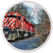 Train - Canadian Pacific Engine 5937 Round Beach Towel