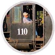 Train Conductor Round Beach Towel