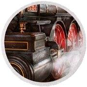 Train - Let Off Some Steam  Round Beach Towel