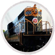 Train Museum - End Of The Line - Canadian National Railway Round Beach Towel