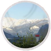 Tranquil - At Its Best Round Beach Towel