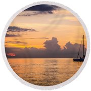 Tranquil Cruise Round Beach Towel