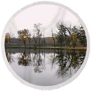 Tranquil Reflections Round Beach Towel