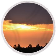 Tranquility 2013 Round Beach Towel