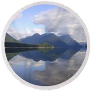 Tranquility Alouette Lake - Golden Ears Prov. Park, British Columbia Round Beach Towel