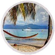 Tranquility Base Round Beach Towel