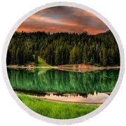 Tranquility Round Beach Towel by Brett Engle