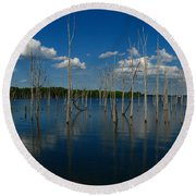 Tranquility II Round Beach Towel