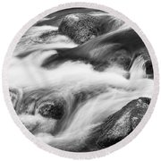 Tranquility In Black And White Round Beach Towel