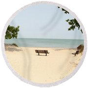 Tranquility Painterly Round Beach Towel