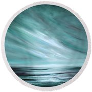 Tranquility Sunset Round Beach Towel