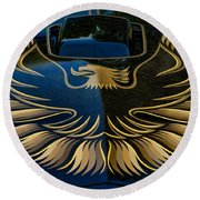 Trans Am Eagle Round Beach Towel