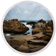 Transcend - Monterey, California Round Beach Towel