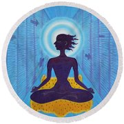 Transcendental Meditation Round Beach Towel